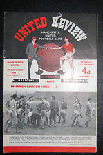 MANCHESTER UNITED V  MANCHESTER CITY 1960/61  OFFICIAL PROGRAMME