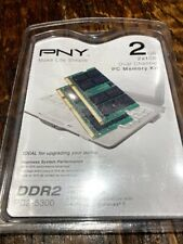 New PNY 2x1GB DDR2 667MHz Laptop Notebook PC2 5300 SODIMM RAM