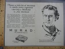 Rare Orig VTG 1926 J Barrymore Murad Turkish Cigarettes Casino De Paris Ad Print