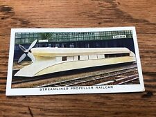 wills cigarette card - streamlined propeller railcar