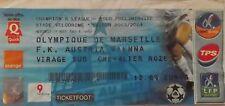 TICKET UEFA CL 2003/04 Olympique Marseille - Austria Wien