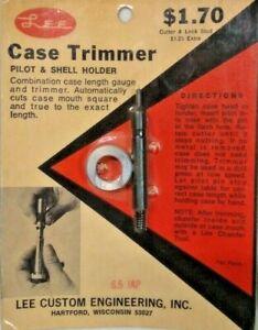 NOS Lee Case Trimmer Pilot & Shell Holder 6.5 JAPan