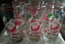 Georges Briard Christmas Glasses Tumblers Santa Claus Presents Set of 6