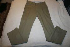 PETER MILLAR 5 POCKET JEANS (35) MILITARY GREEN SOFT TOUCH TWILL TROUSERS