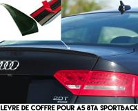 SPOILER BECQUET LEVRE LAME COFFRE pour AUDI A5 SPORTBACK 08-11 TDI TFSI SLINE S5