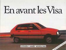 Citroen Visa Club L Super e Entreprise 1982-83 Francesa Original folleto de ventas