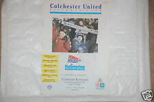 Colchester V Stafford Rangers Programa 2nd Nov. 1991 Co
