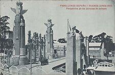 ARGENTINA BUENOS AIRES 1910 PABELLONES ESPAÑA PERSPECTIVA DE PORTONES DE ENTRADA