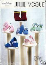 Vogue Sewing Pattern 7707 Linda Carr Baby Booties Newborn Small Medium New Uncut