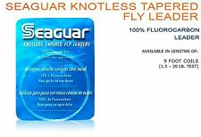 Seaguar Knotless Tapered Fly Leader - 7X 9ft 100% Fluorocarbon