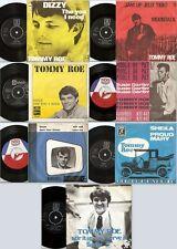 TOMMY ROE 7 ORIGINAL DANISH & SWE 45s & PICTURE SLEEVES 62-70 MOD SOUL FREAKBEAT