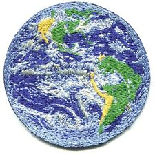 PLANET EARTH sea land EMBROIDERED IRON-ON PATCH **FREE SHIPPING -go green peace