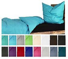 Bettwäsche Renforce Baumwolle 135x200 Kissenbezug 80x80UNI Einfarbig Türkis