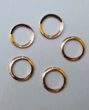 3 x rose 9ct gold 5mm heavyweight open jump ring red gold o ring