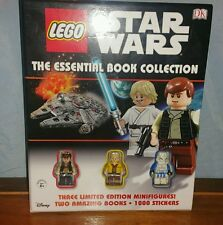 Lego Star wars the essential books collection by DK with rare minifigures Han