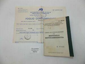 1976 BENELLI 125 ITALY OWNER CERTIFICATE CARTA CIRCOLAZIONE MOTORCYCLE DOCUMENT