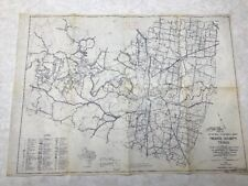 1958 General Highway Map Travis County Texas