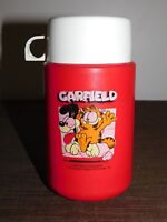 "VINTAGE 6 1/2"" HIGH 1978 GARFIELD PLASTIC LUNCH BOX THERMOS"