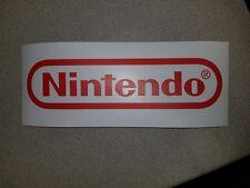 Nintendo logo sticker. 4 x 10.5. (Buy 3 stickers, Get One Free!)