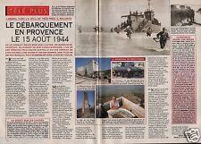 Coupure de presse Clipping 1994 Débarquement en Provence le 15/08/1944 (2 pages)