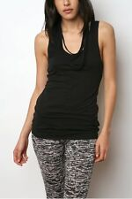 URBAN OUTFITTERS Black Casual Tubular Chain Drape  Tank Sleeveless Top $42 S '09