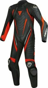 Brand New Aero Evo D1 Red Black Motorbike Racing Leather Suits CE APPROVED