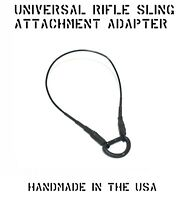 """UNIVERSAL WEAPON RIFLE SLING LOOP RECEIVER RAIL ADAPTER 3/4"""" D-RING US MILITARY"""