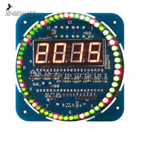 DS1302 Rotating LED Electronic Digital DIY Clock Kit 51 SCM Learning Board 5V US