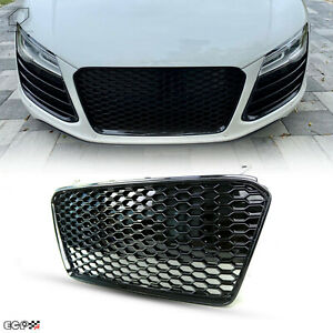 Fit for 13-15 R8 42 Gen1 Car Kühlergrill Grill Grille Gloss Black Euro Style