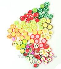 Lot 100 Perles Mixte Fruit Pâte Fimo Mignon Polymere DIY Bijou Collier Création