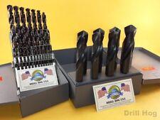 "37 Pc Silver & Deming Drill Bits 1/16"" ~ 1"" Pig Seel Drill Hog Lifetime Warranty"
