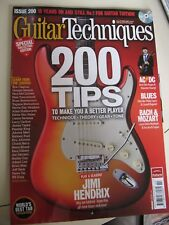 Guitar Techniques Feb 2012 with cd vgc