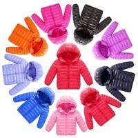 Boy Girl Children's Fashion Outerwear coat Cold Winter Warm Hooded Coat Children