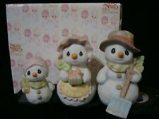 zk Precious Moments-3 Snowmen Set-We're A Family That Sticks Together-Special Le