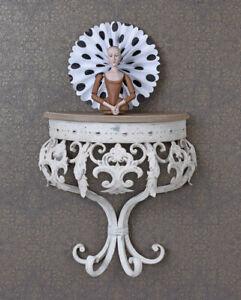 Mensola Barocco Tavolo da Parete Squallido Console Muro Antico