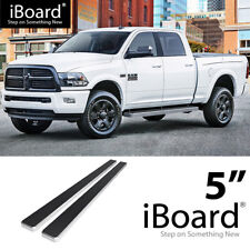Running Board Side Step 5in Silver Fit Dodge Ram 1500/2500/3500 Crew Cab 09-18