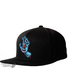 "SANTA CRUZ ""Screaming Hand"" Snap Back Cap Skateboard BLACK OSFA Hat"