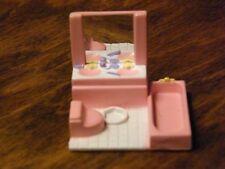 Vintage Polly Pocket Lewis Galoob My Pretty Dollhouse Furniture - Pink Bathroom