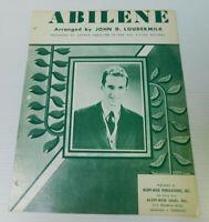 Abilene George Hamilton IV John Loudermilk  Sheet Music 3 pages 1963