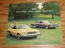 Original 1976 Mercury Bobcat Monarch Comet Sales Brochure 76