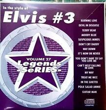 LEGENDS KARAOKE CDG ELVIS HITS OLDIES ROCK  #27 15 SONGS BURNING LOVE CD+G