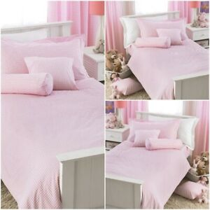 Modern Pink Gingham Check Curtains Kids Bedroom Top curtains in pair pack