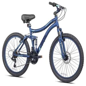 "24"" Bella Vista Girl Full Suspension Outdoor Mountain Bike Bicycle Boys 21Speed"