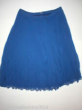 New Womens White House Black Market Skirt Pleated Dark Blue 00 Office Accordion