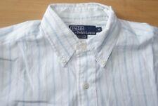 Q59 Polo by Ralph Lauren Hemd - Größe 41 - gestreift weiß blau rosa Herren