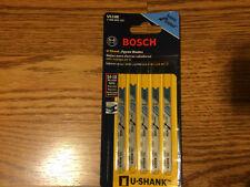 (2) Bosch U118E 5-Piece 3-1/8 In. 14-18P TPI  For Metal U-shank Jig Saw Blades