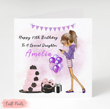 Handmade Personalised Birthday Card 10th 13th 14th 16th Girl Daughter Niece