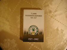 75 Jahre Wandsbeker Jagdverein von 1927 ( 1927-2002)