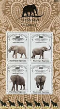 Togo 2014 MNH African Elephant 4v M/S Wild Animals Fauna Elephant d'Afrique