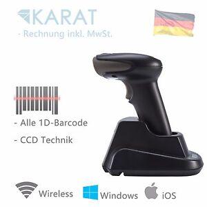 Wireless CCD 1d Barcode Scanner USB Aufladen Dock Handscanner Kabellos 1534